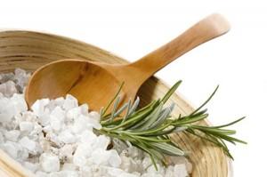 aroma bath. rosemary and salt