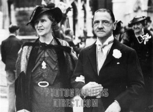 William Somerset Maugham and his bride Syrie
