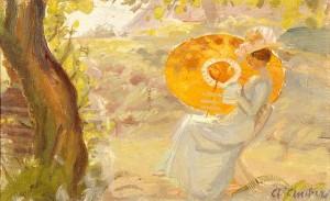 640px-Young_Girl_in_a_Garden_with_Orange_Umbrella_(Anna_Ancher)